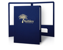 Printing Personalized Foil and/or Embossed Presentation Folders